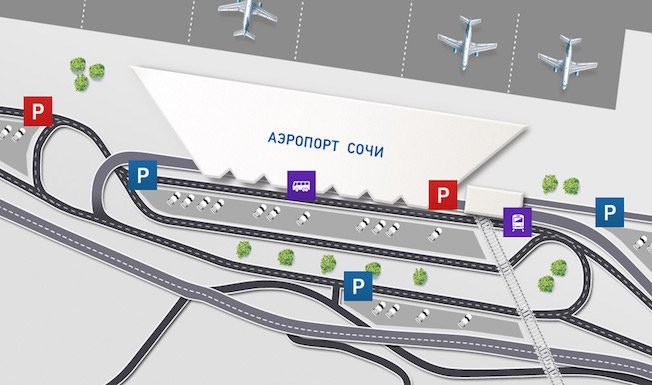 Карта аэропорта Сочи